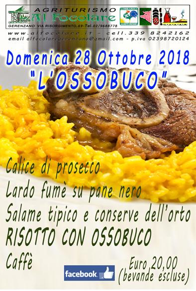 "Domenica 28 Ottobre 2018 ""OSSOBUCO"""